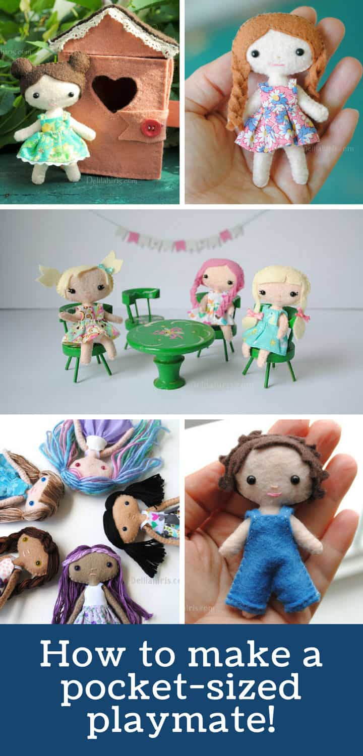Mini Felt Doll Sewing Pattern and Tutorial - Pinterest