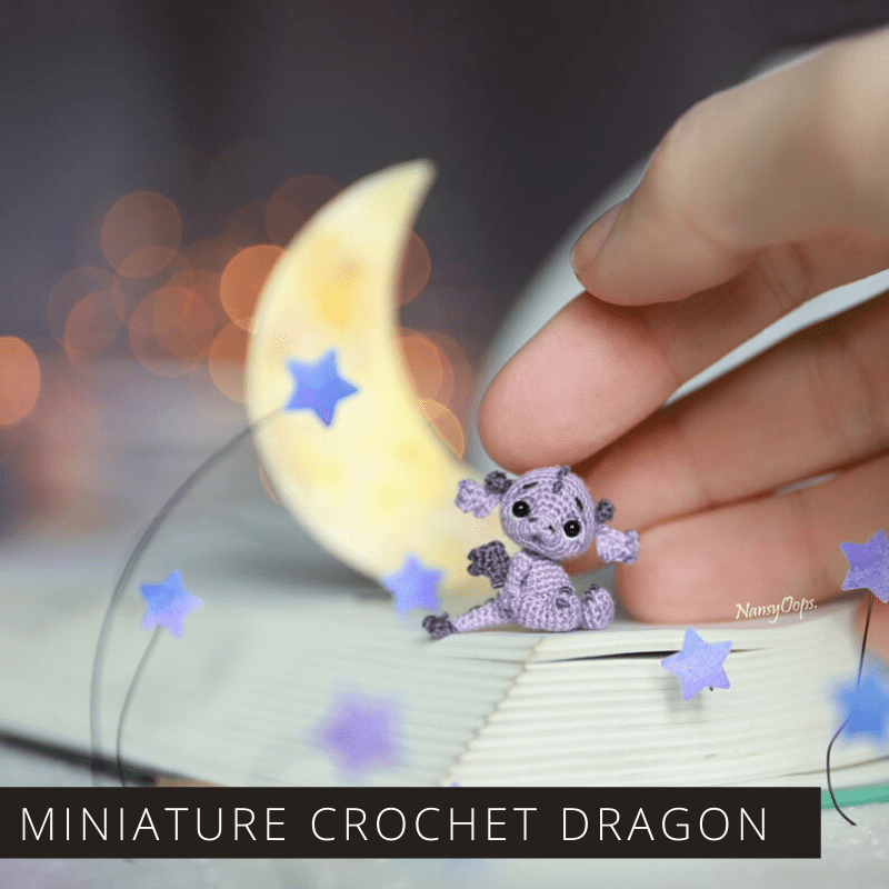 Grab the embroidery floss so you can crochet this teeny tiny and totally magical little dragon. Perfect for keychains, bookshelves and instagram!