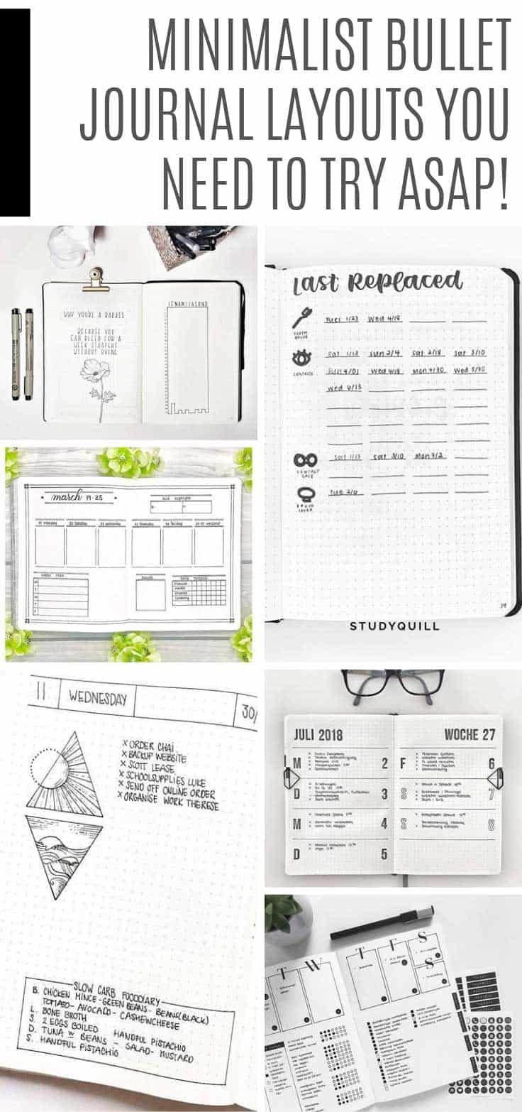 These minimalist bullet journal spreads are so simple and clean. Check out the daily and weekly spread examples if you're ready to embrace the simple life!
