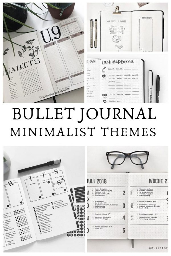 Minimalist bullet journal spreads do not have to be boring! Take a look at these gorgeous layouts that might just inspire you to go back to basics with your theme next month!