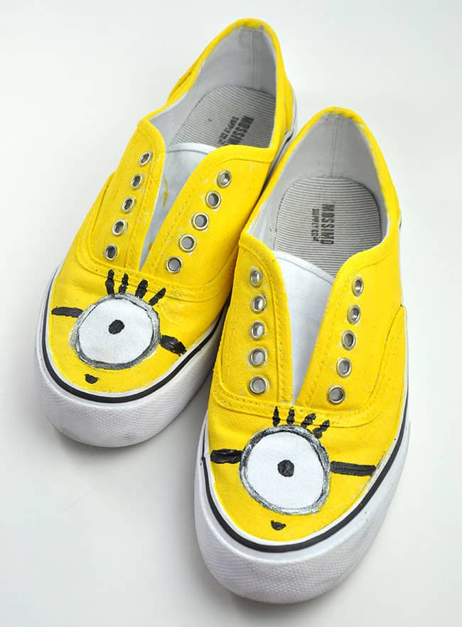 Minion Hand Painted Shoes