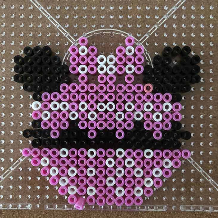 Minnie Mouse Cupcake Perler Bead Pattern