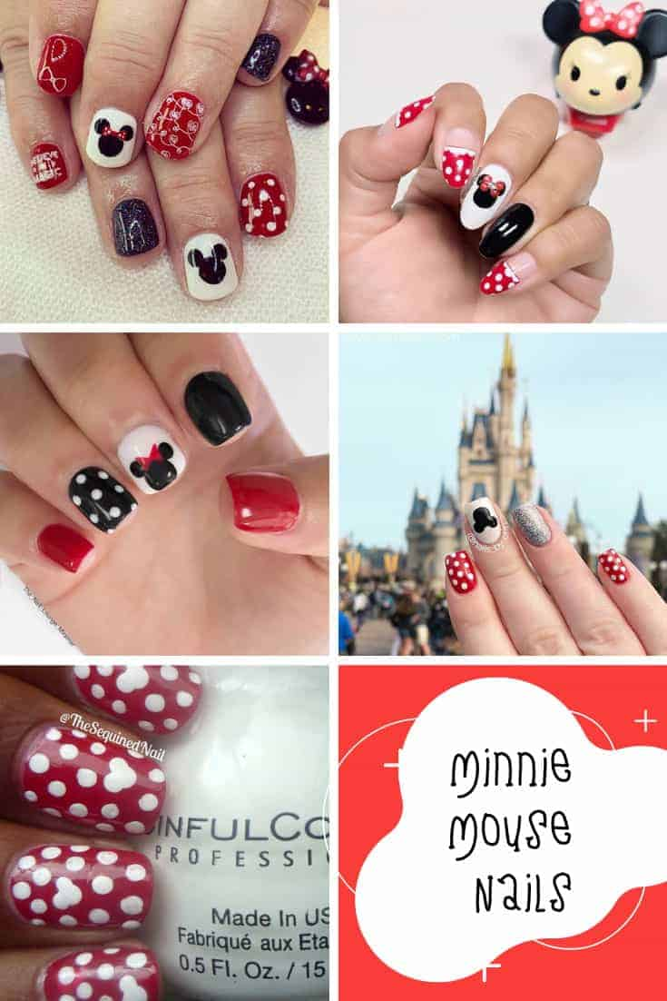 Embrace your inner Minnie Mouse with these fabulous polka dot nail art ideas! #minniemouse #nailart