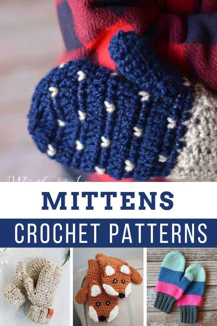 These crochet mittens will keep your fingers warm and snug - and the patterns are all free!