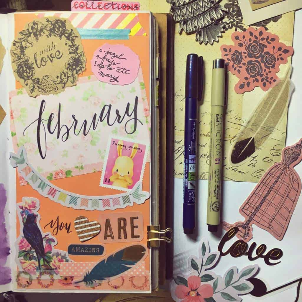Mixed Media Bullet Journal Cover Page