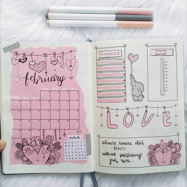 Mixed Media Monthly log