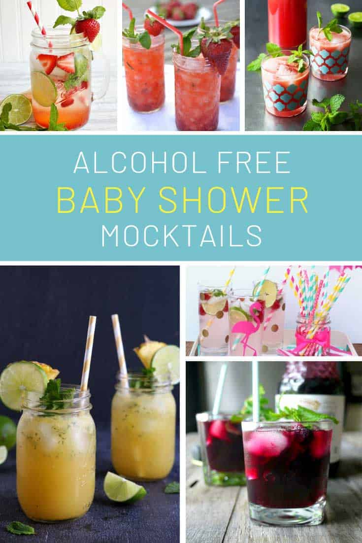 Loving these mocktails for baby shower parties!