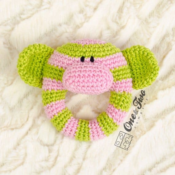 Monkey Baby Rattle Crochet Pattern