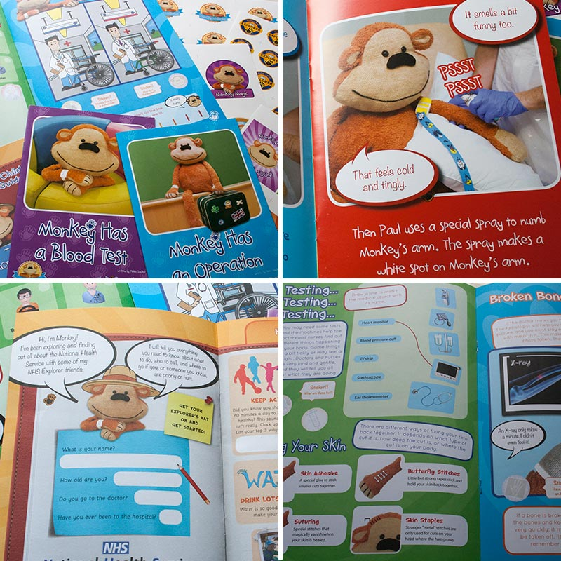 Monkey Wellbeing storybooks help to take the fear out of the unknown