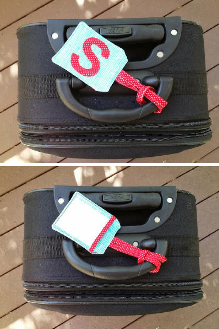 Monogram Luggage Tag Tutorial