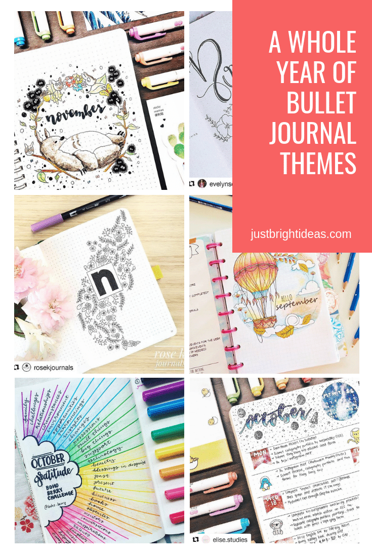 A whole year's worth of monthly Bullet Journal themes to inspire you!