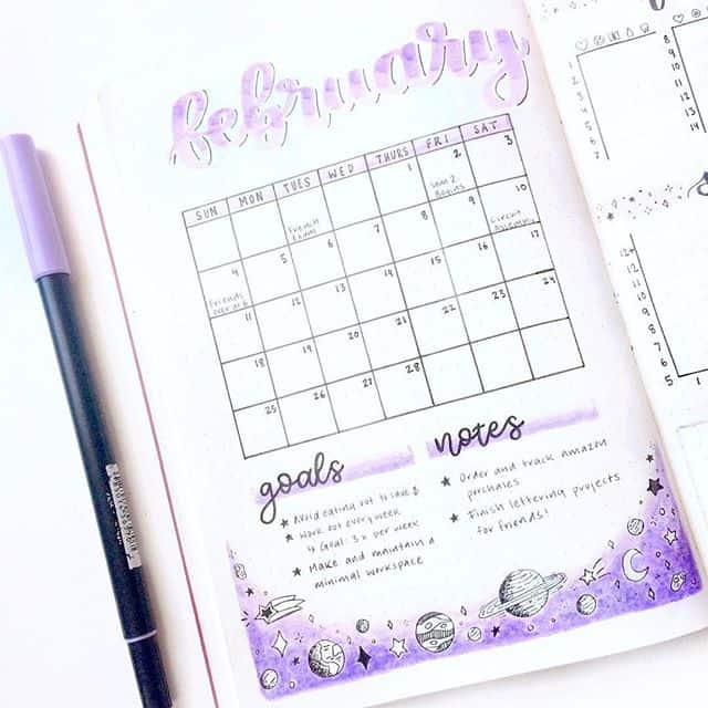 Monthly Log Goals Notes