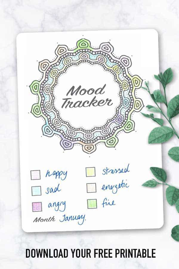 Mood Tracker Bullet Journal Printable {Download your free copy!}
