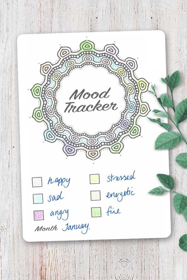 photo about Printable Mood Tracker called Temper Tracker Bullet Magazine Printable Down load your absolutely free reproduction!