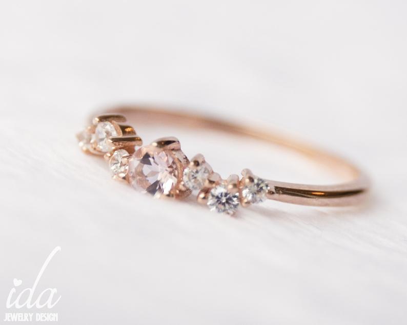 Handmade Minimalist Birthstone Ring