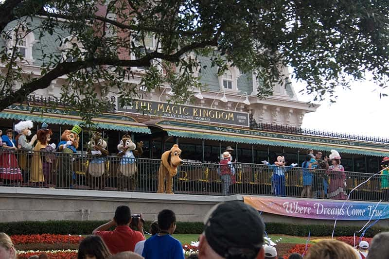 Morning Welcome at Magic Kingdom