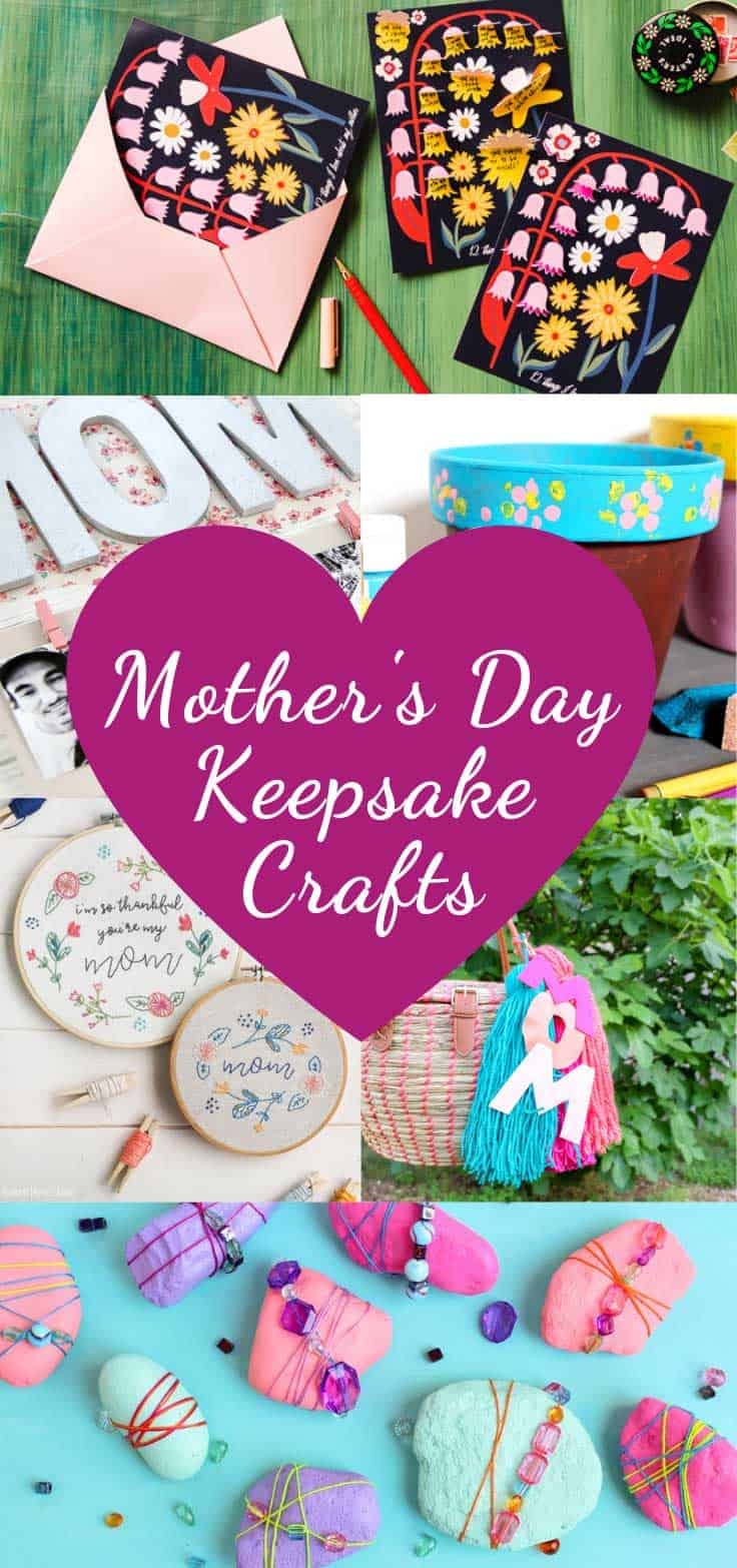 I know that many of you like to get crafty and make homemade gifts for your loved ones. So today I've rounded up some gorgeous Mother's Day keepsake crafts.
