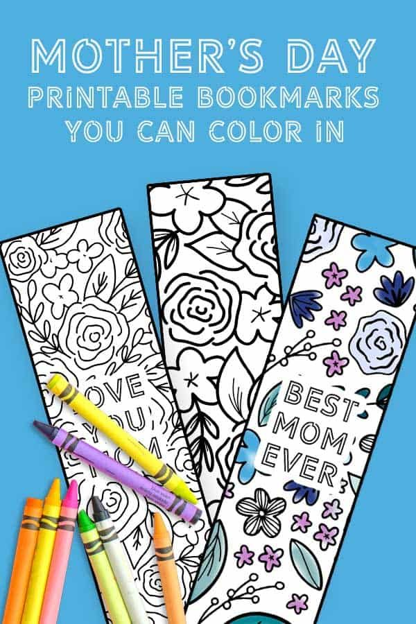 These Mother's Day printable coloring bookmarks are the perfect gift for a mom who loves to read. Tuck one inside a new book as a Mother's Day gift she's sure to appreciate!