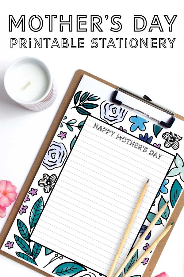 This Mother's Day use this free printable stationery to write mom a letter and tell her how much she means to you. After you color it in!