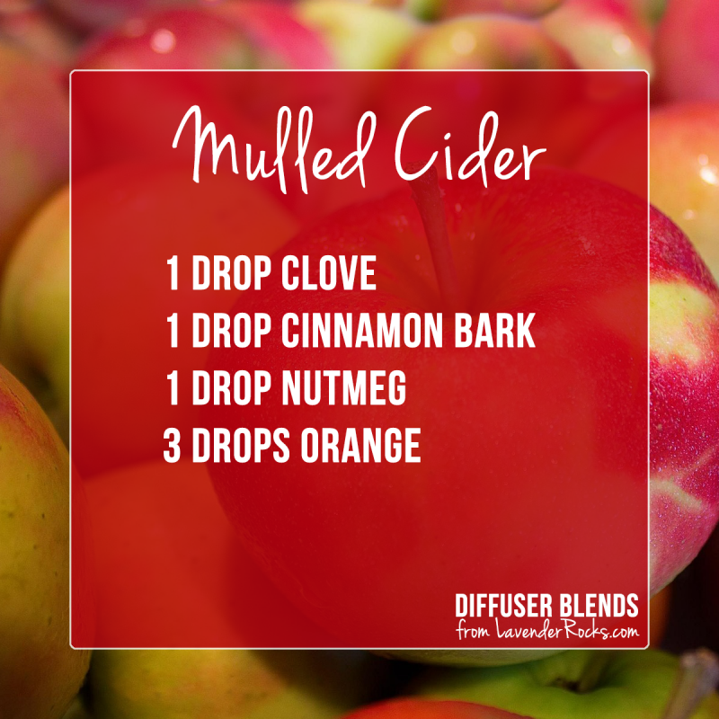 Mulled Cider - for more Fall diffuser blends visit justbrightideas.com