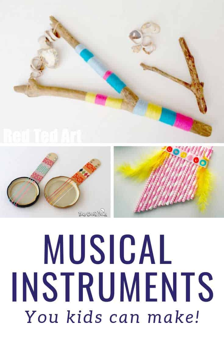 How cool are these musical craft ideas for kids!