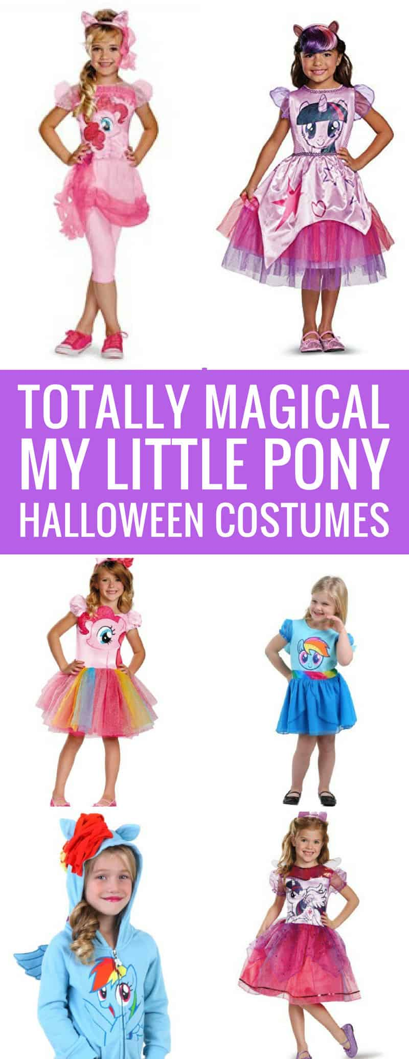 How adorable are these My Little Pony Halloween costume s- my daughter is going to love them for trick or treating! Thanks for sharing!