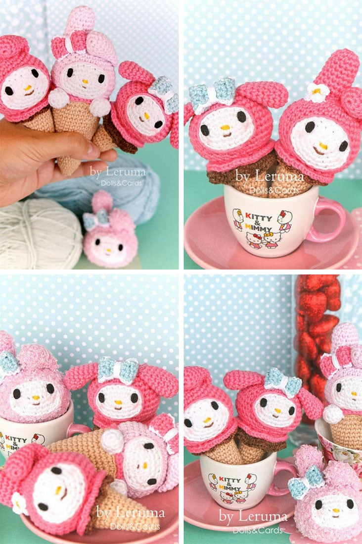 My Melody Ice Cream Crochet Pattern