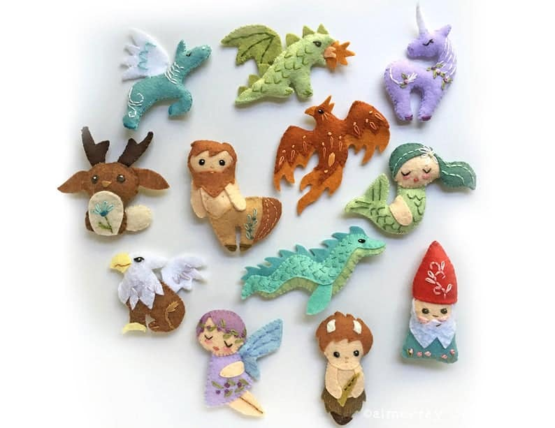 Mythical Creature Felt Dolls