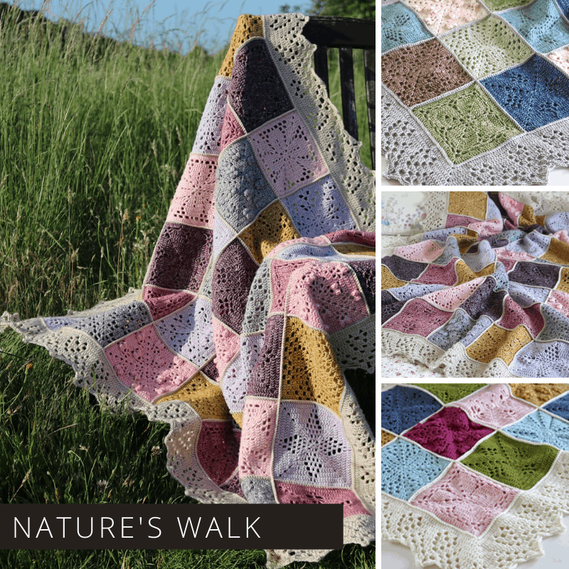 This Nature's Walk crochet blanket is truly beautiful and is available as a free download over on Ravelry