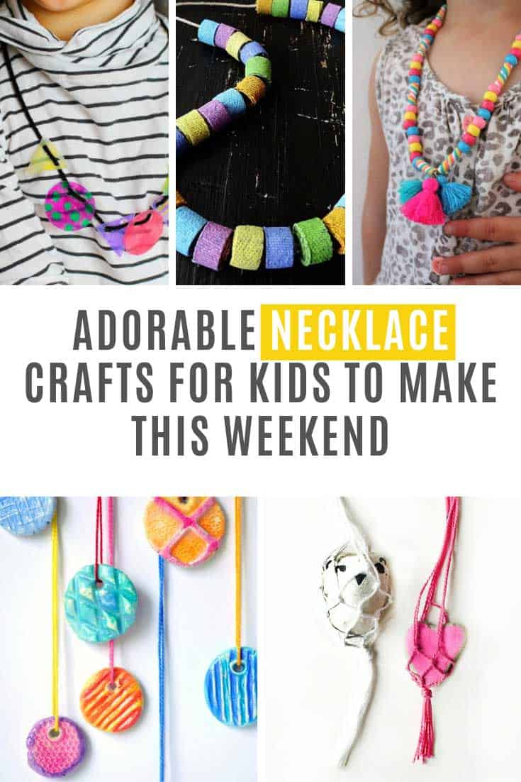 Whether your kids make these pendants and necklaces for themselves or as gifts for a friend they will have a lot of fun being creative with these projects for sure!