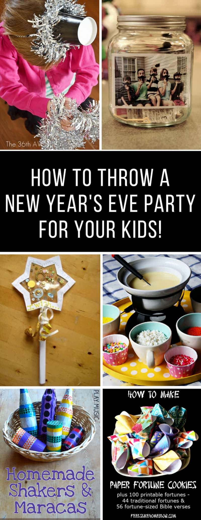 New Years Eve Party for Kids - Don't let the kids miss out on the fun - they can have their party counting down to noon instead of Midnight! #newyear #newyearparty