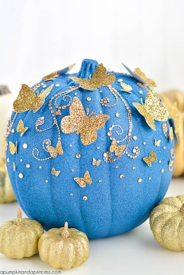 No Carve Cinderella Halloween Pumpkin