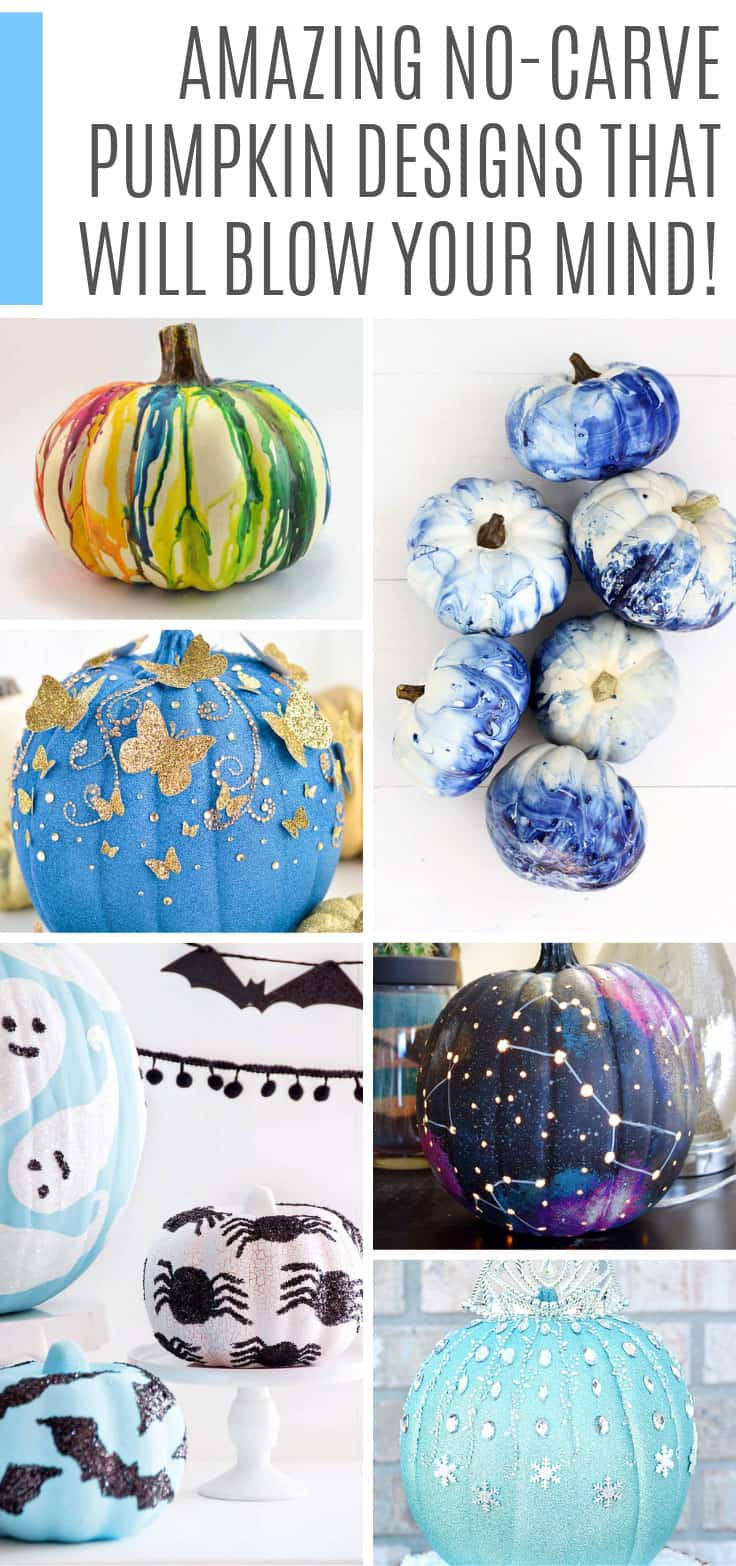 These no carve pumpkin designs are AMAZING! They're perfect for Fall and Halloween and even a Baby Shower!