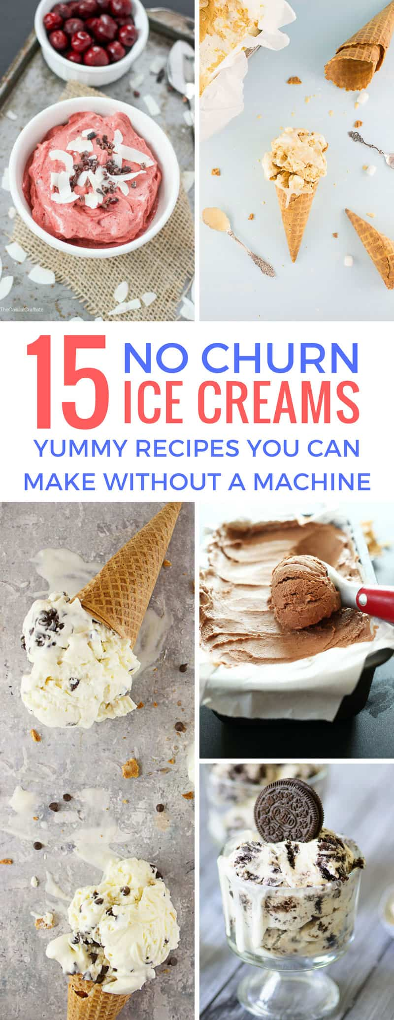 These no churn ice cream recipes are so easy to make and it's great that we don't need a machine to make them!