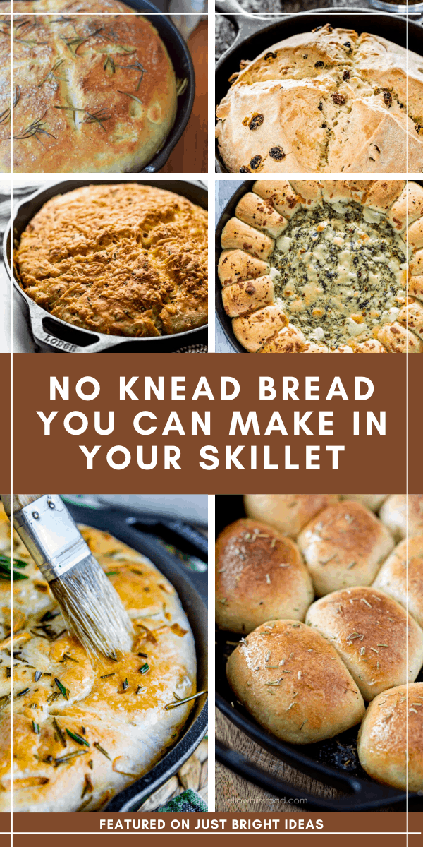 These delicious breads don't need any kneading and you can make them in your cast iron skillet