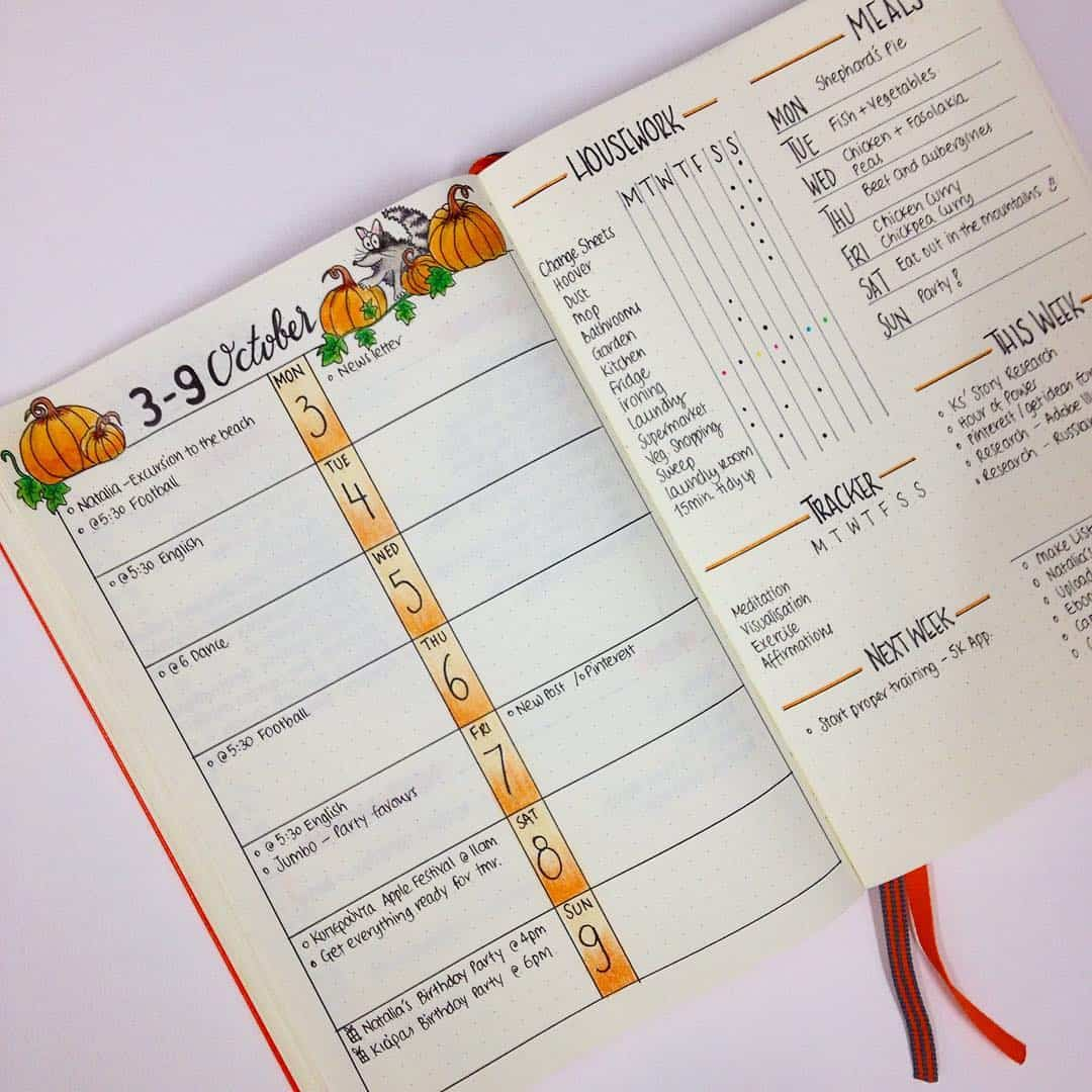 October Dailies Doodles Bullet Journal