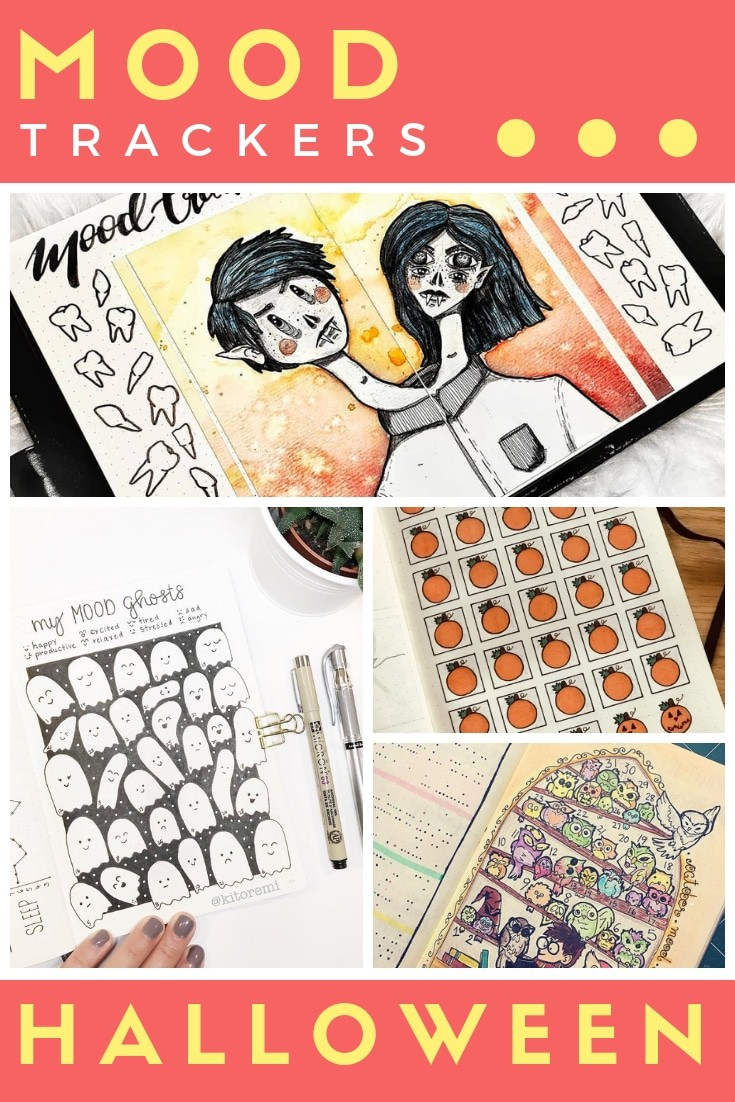 October bullet journal mood tracker ideas layouts