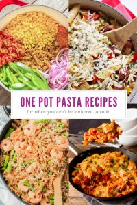 One Pot Pasta Recipes | Midweek Meals | Week Night Meals | Quick and Easy | Busy Moms | Dinner | Leftovers