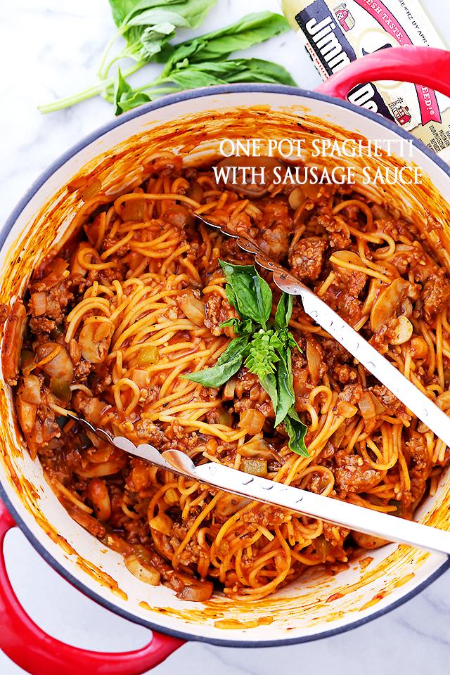 One Pot Pasta | Spaghetti | Sausage