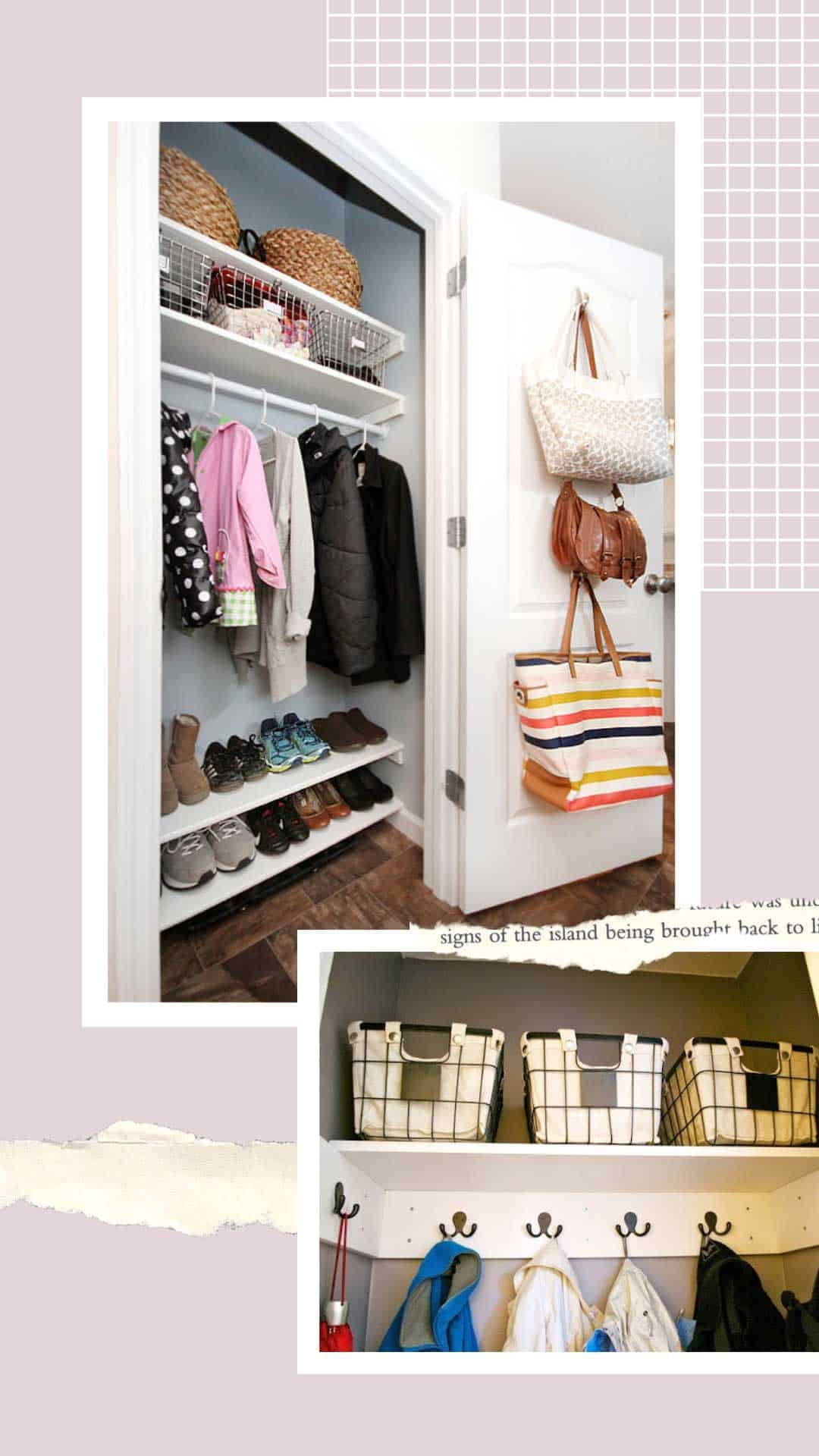 If your front closet is cluttered and disorganized it's time to give it some TLC and turn it into a coat closet your guests will be jealous of! Don't miss these hacks that are easy to do this weekend! #organize