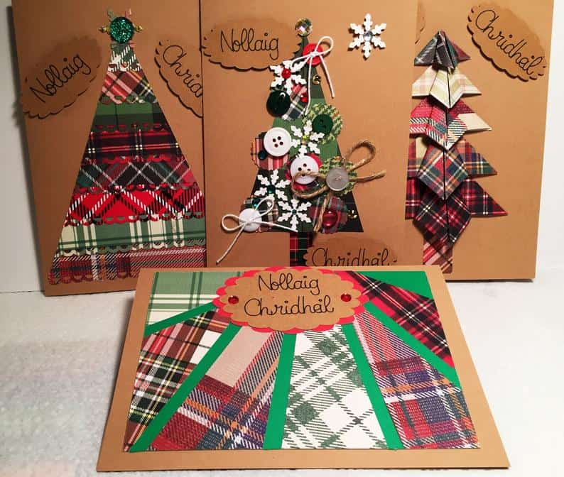 Outlander-inspired Tartan Christmas Cards