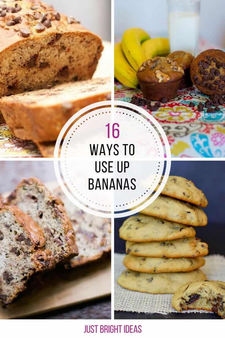 Delicious recipes to use up those overripe bananas! Thanks for sharing!