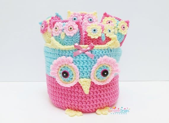 Owl Basket of Owlets