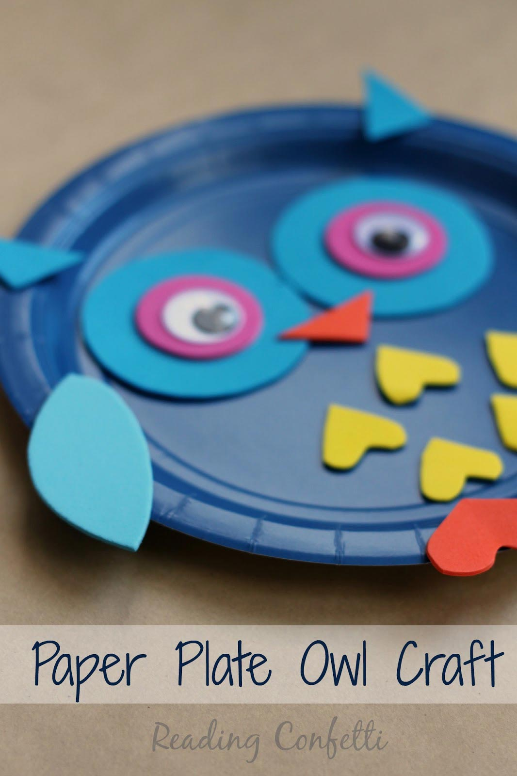 http://www.readingconfetti.com/2015/03/paper-plate-owl-craft.html