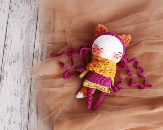 Amigurumi Toy Fox Doll