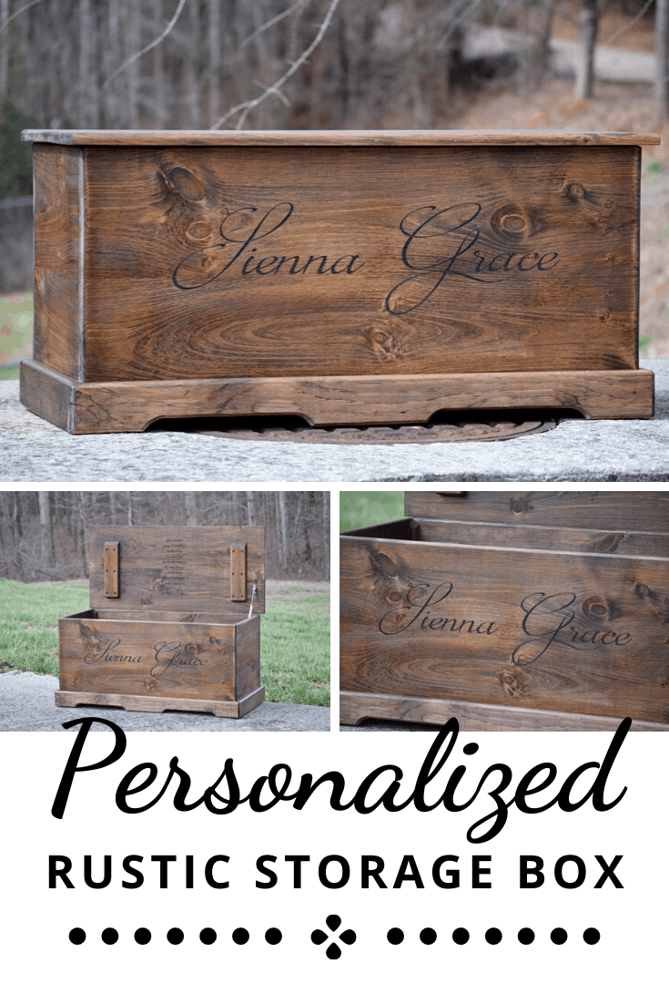 Rustic Farmhouse Style Wooden Toy Box