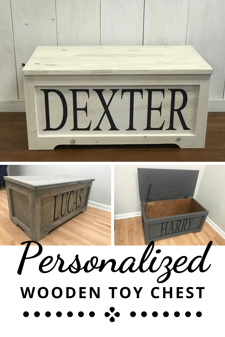 Personalized Toy Box with Large Lettered Name