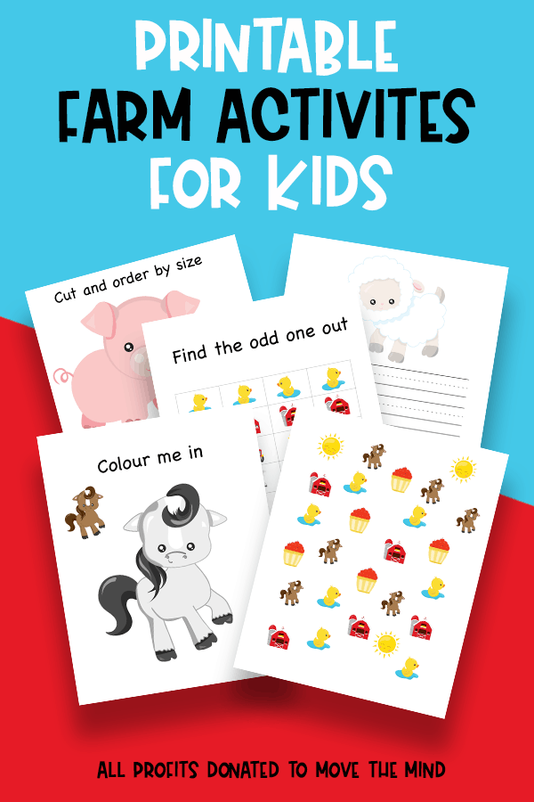 This fun printable pack is perfect for kids under 8. Includes colouring pages, cutting practice and story writing pages. #kids #activities