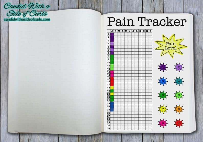 Pain Tracker Printable