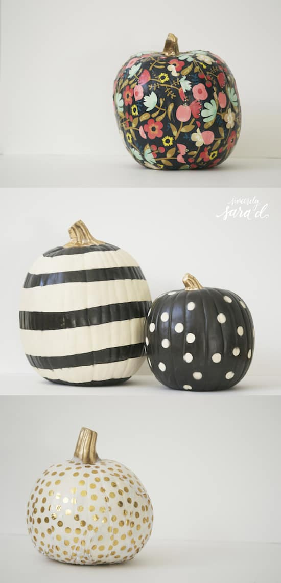 Painted DIY No Carve Pumpkin